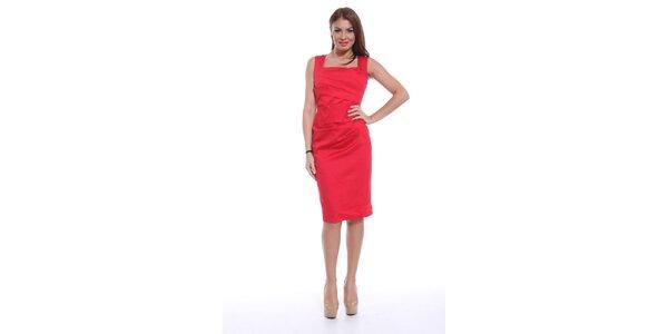 Dámske červené šaty bez rukávov Ines