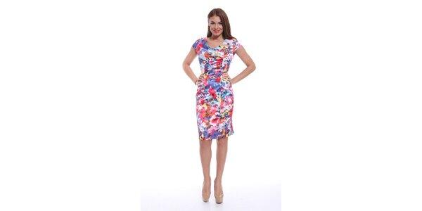 Dámske farebné kvetované šaty Ines