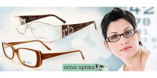 Pár dioptrických skiel a exkluzívna zľava 50 % na okuliarové rámy