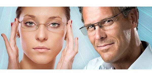 Dioptrické sklá a rám okuliarov