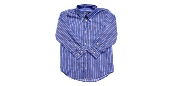 Detská modrá prúžkovaná košeľa Gant