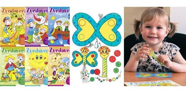 Zvedavček - 6 časopisov s hravými a tvorivými úlohami pre deti