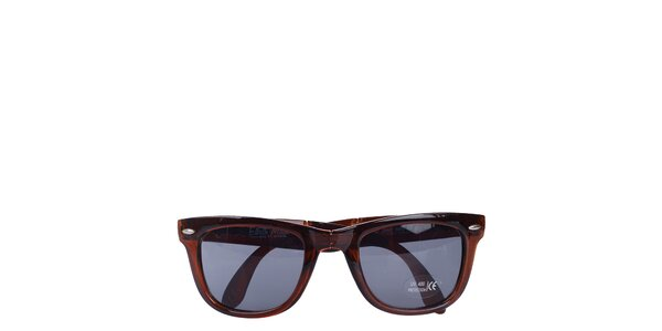 Hnedé transparentné slnečné okuliare Wize & Ope