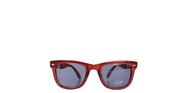 Červené transparentné slnečné okuliare Wize & Ope