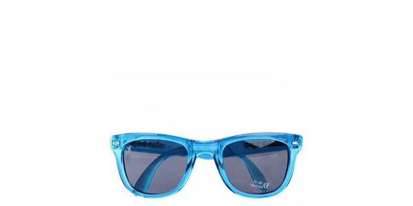 Tyrkysové transparentné slnečné okuliare Wize & Ope