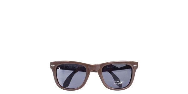 Hnedé slnečné okuliare Wize & Ope
