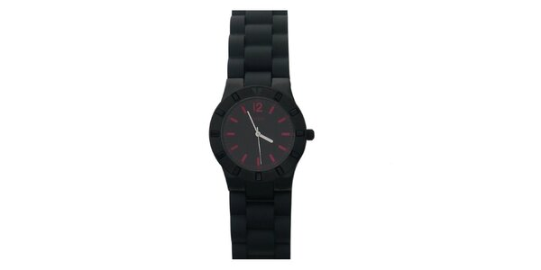 Dámske čierne analógové hodinky Guess
