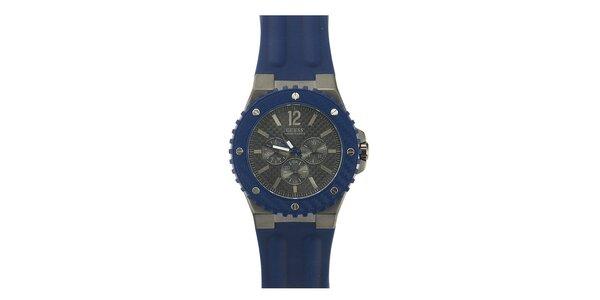 Pánske modré analógové hodinky Guess