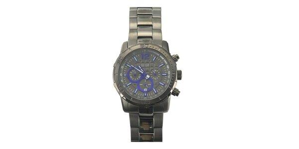 Pánske analógové hodinky z ocele Guess