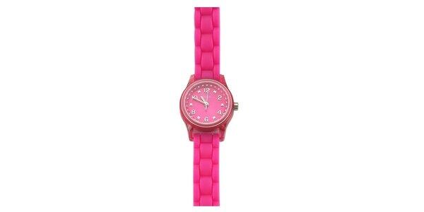 Dámske ružové hodinky s kamienkami Guess
