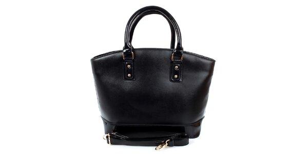 Dámska veľká čierna kabelka London Fashion