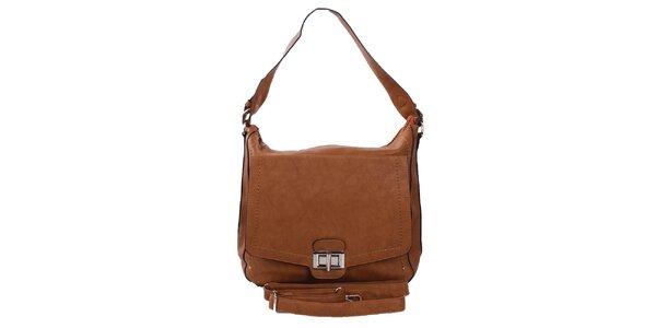 Dámska hnedá kabelka s jedným uchom London Fashion