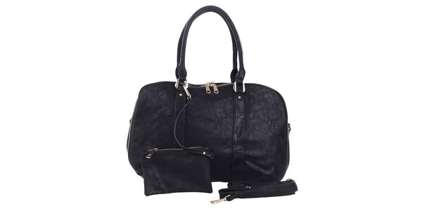 Dámska čierna kabelka s peňaženkou London Fashion