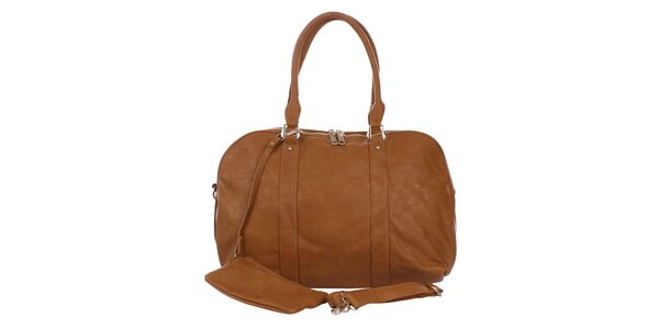 Dámska hnedá kabelka s peňaženkou London Fashion