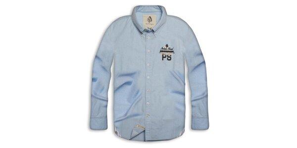 Pánska svetlo modrá bavlnená košeľa Paul Stragas
