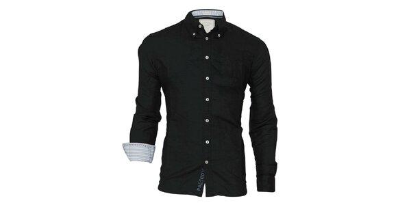 Pánska čierna košeľa Paul Stragas