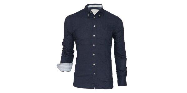 Pánska tmavo modrá košeľa Paul Stragas