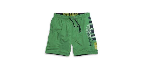 Pánske zelené plavky Paul Stragas