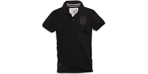 Pánske čierne polo tričko s krátkym rukávom Paul Stragas