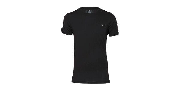 Pánske čierne tričko Paul Stragas