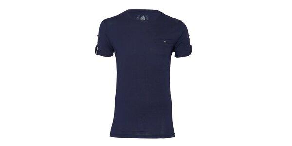 Pánske tmavo modré tričko Paul Stragas
