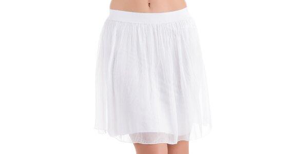 Dámska biela hodvábna sukňa do pása Keysha