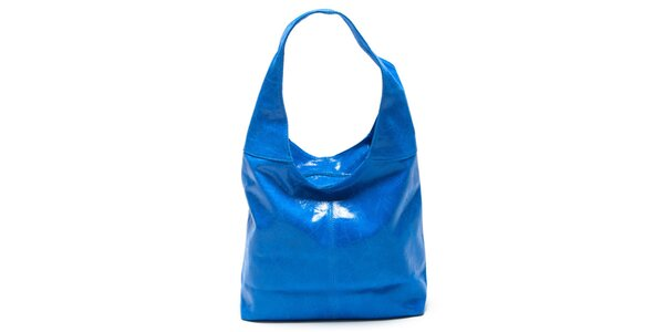 Dámska modrá kabelka s jedným uchom Mangotti