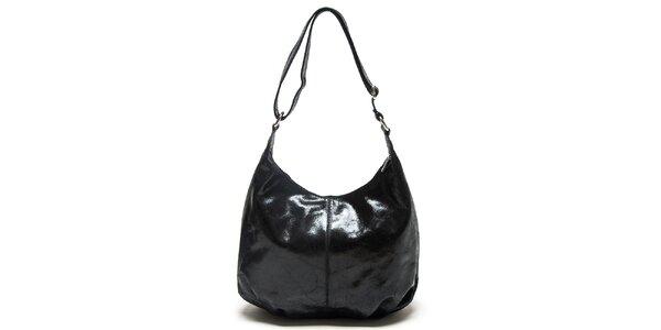 Dámska čierna kabelka s nastaviteľným popruhom Mangotti