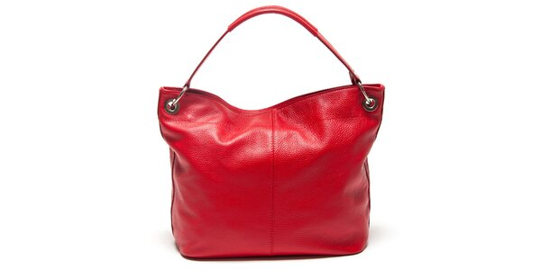 Dámska červená kabelka s vonkajším vreckom Mangotti