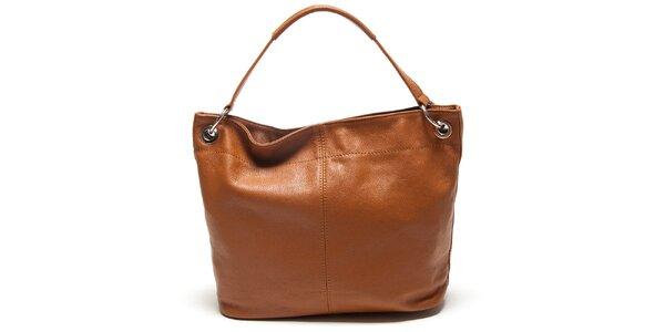 Dámska koňaková kabelka s vonkajším vreckom Mangotti