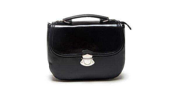 Dámska čierna kabelka s prackou Mangotti