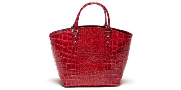 Dámska červená vzorovaná kabelka Mangotti