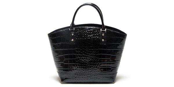 Dámska čierna vzorovaná kabelka Mangotti