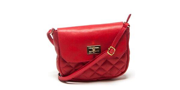 Dámska malá červená prešívaná kabelka Mangotti