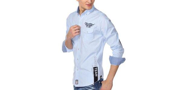 Pánska svetlo modrá košeľa M. Conte