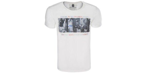 Pánske krémové tričko s obrázkom a nápisom Me Da Igual