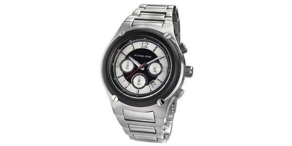 Pánske strieborné hodinky s chronografom Michael Kors
