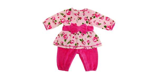 Detské ružové šatičky s všitými nohavičkami Tuc Tuc