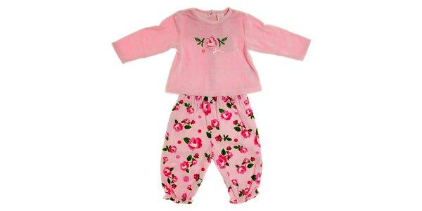 Detský svetlo ružový komplet Tuc Tuc - tričko a nohavičky
