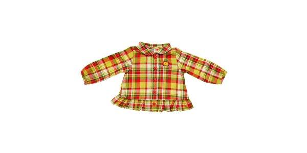 Detská žltá kockovaná košeľa Tuc Tuc