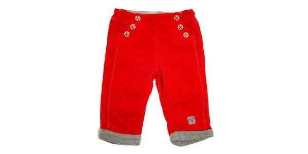 Detské červené menčestráky Tuc Tuc