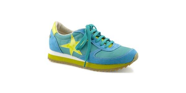 Dámske pestrofarebné tenisky s hviezdou Blink