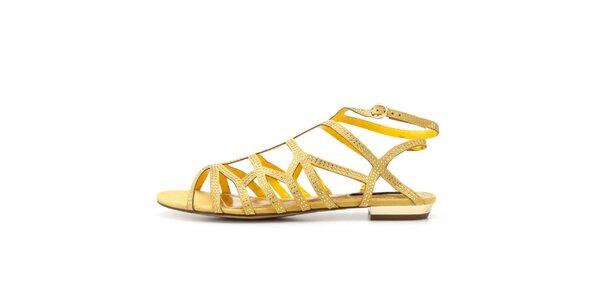 Dámske žlté remienkové sandálky Blink