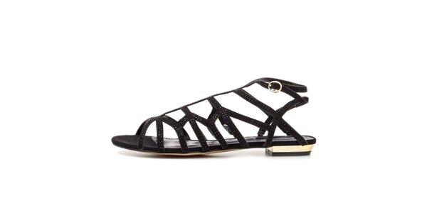 Dámske čierne remienkové sandálky Blink