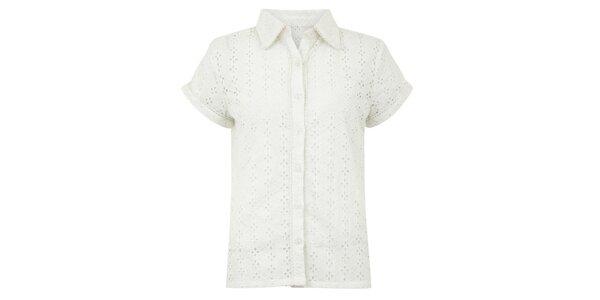 Dámska biela perforovaná blúzka Uttam Boutique
