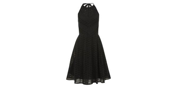 Dámske perforované čierne šaty Uttam Boutique