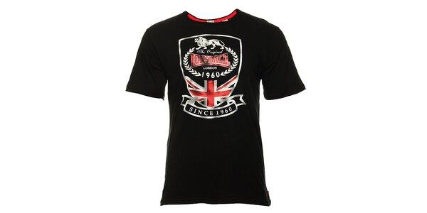 Pánske čierne tričko s potlačou Lonsdale