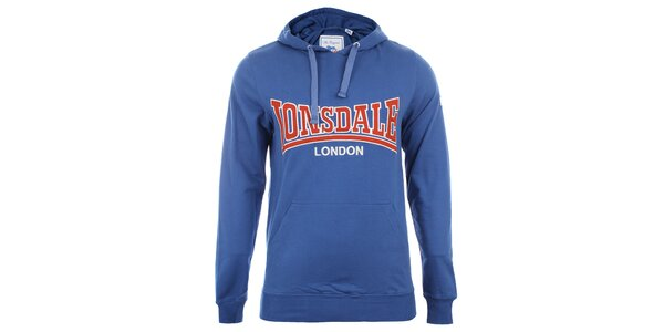 Pánska modrá slim fit mikina s kapucňou Lonsdale