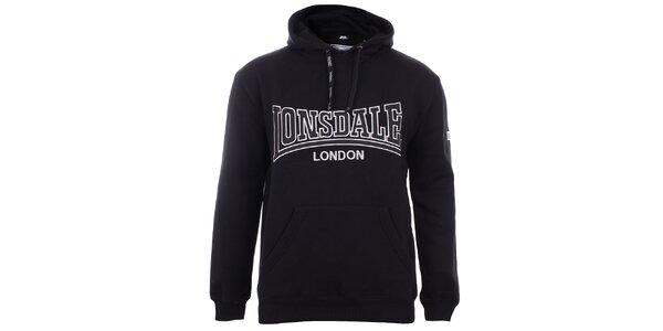 Pánska čierna mikina Lonsdale