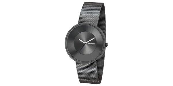 Metalické hodinky s texturovaným remienkom Lambretta